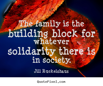 Friendship quotes - The family is the building block for whatever solidarity there is..