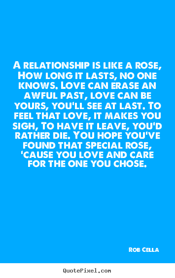 Create picture quotes about friendship - A relationship is like a rose, how long it lasts,..