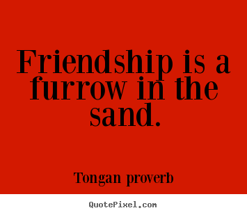 Friendship is a furrow in the sand. Tongan Proverb best friendship quotes