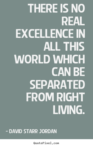 Quote about inspirational - There is no real excellence in all this world which..