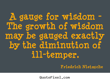 Sayings about inspirational - A gauge for wisdom - the growth of wisdom may be..