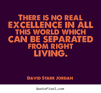 Inspirational quotes - There is no real excellence in all this world..