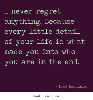 drew barrymore life print quote on canvas design your own quote