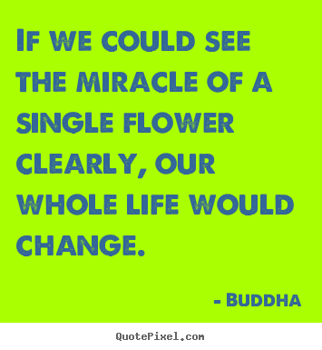 Quotes about life - If we could see the miracle of a single flower clearly,..