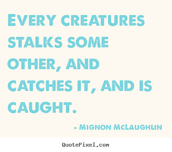 Quotes about life - Every creatures stalks some other, and catches..