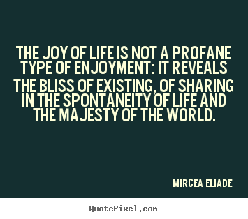 Diy photo quotes about life - The joy of life is not a profane type of enjoyment: it reveals..