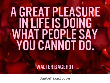 Quotes about life - A great pleasure in life is doing what people..