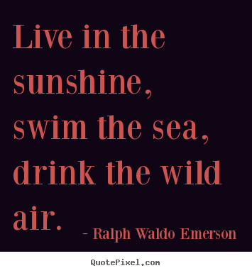 Quotes about life - Live in the sunshine, swim the sea, drink the wild air.