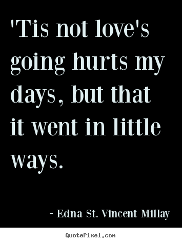 Create custom picture quotes about love - 'tis not love's going hurts my days, but that it went in little ways.