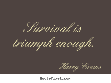 Create custom picture quotes about success - Survival is triumph enough.