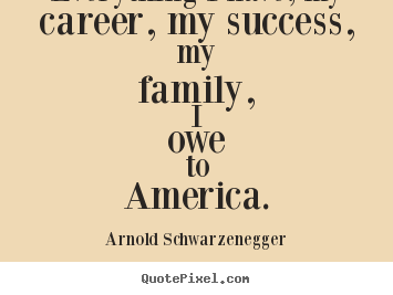 Make personalized picture quotes about success - Everything i have, my career, my success,..
