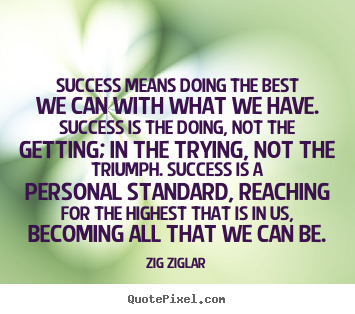 Quotes about success - Success means doing the best we can with what we have. success is..