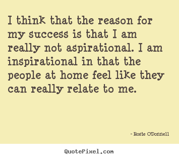 Create picture quotes about success - I think that the reason for my success is that i..