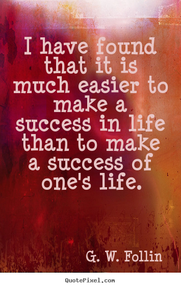 Make personalized picture quote about success - I have found that it is much easier to make a success..