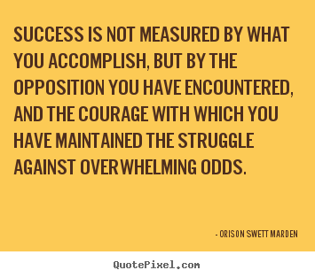 Quotes about success - Success is not measured by what you accomplish,..
