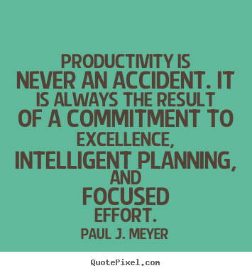 Create picture quotes about success - Productivity is never an accident. it is always the result..