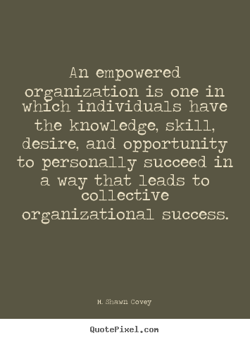 How to design picture quotes about success - An empowered organization is one in which individuals have the knowledge,..