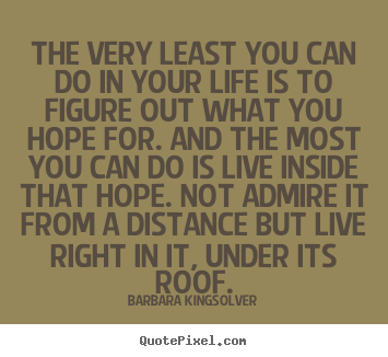 Success quotes - The very least you can do in your life is to figure out what..