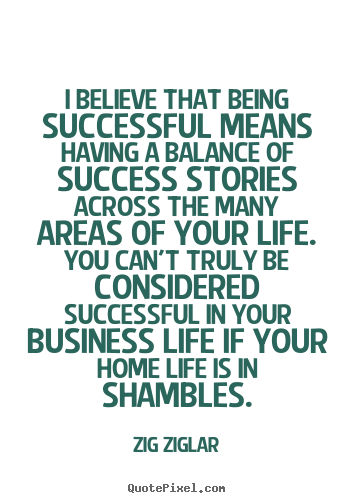 Success quote - I believe that being successful means having a..