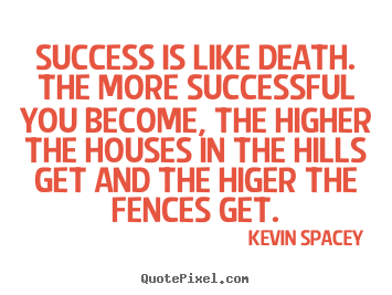 Create picture sayings about success - Success is like death. the more successful you become,..