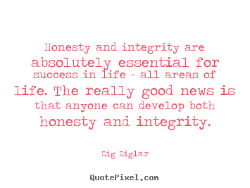 How to make photo quotes about success - Honesty and integrity are absolutely essential for success..